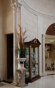 interior stone column